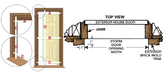 Measuring For A Storm Door