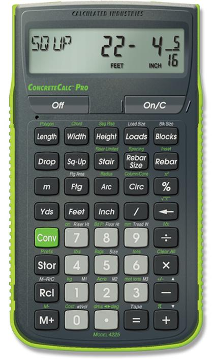 Calculator Concrete