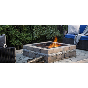 Weston Fire Pit SQ w/Ring Fossil